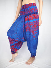 Load image into Gallery viewer, Mandala  Unisex Aladdin drop crotch pants in Navy PP0056 020068 03