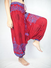 Load image into Gallery viewer, Mandala  Unisex Aladdin drop crotch pants in Red PP0056 020068 02