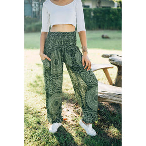Monotone Mandala 31 women harem pants in Green PP0004 020031 04