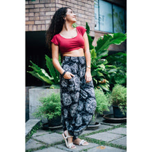 Load image into Gallery viewer, Floral Classic 98 women harem pants in Black PP0004 020098 08