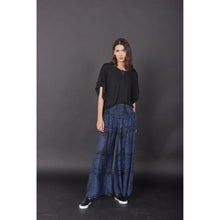 Load image into Gallery viewer, Monotone Mandala Women's Wide Leg Pants in Navy PP0311 020031 02