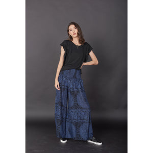 Monotone Mandala Women's Wide Leg Pants in Navy PP0311 020031 02