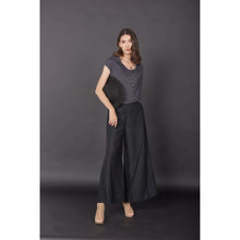 Load image into Gallery viewer, Solid Color Women's Palazzo Pants in Black PP0304 020000 10