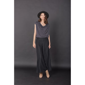 Solid Color Women's Palazzo Pants in Black PP0304 020000 10