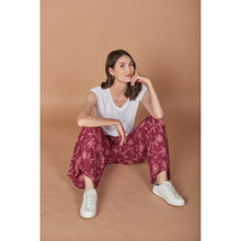Load image into Gallery viewer, Flower Women's Palazzo pants in Burgundy PP0076 020205 01