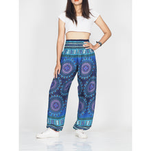 Load image into Gallery viewer, Colorful sunflower 95 women harem pants in Navy PP0004 020095 03