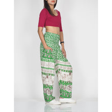 Load image into Gallery viewer, Cute elephant 12 women harem pants in Green PP0004 020012 04