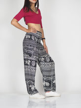 Load image into Gallery viewer, Elephant Temple 14 women harem pants in Black PP0004 020014 01