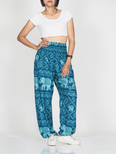 Load image into Gallery viewer, Elephant classic 29 women harem pants in Ocean Blue PP0004 020029 06