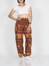 Load image into Gallery viewer, Elephant classic 29 women harem pants in Orange PP0004 020029 05