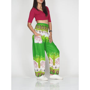 Solid Top Elephant 17 women harem pants in Green PP0004 020017 02
