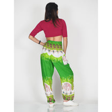 Load image into Gallery viewer, Solid Top Elephant 17 women harem pants in Green PP0004 020017 02