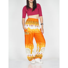 Load image into Gallery viewer, Solid Top Elephant 17 women harem pants in Orange PP0004 020017 03