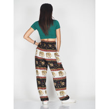 Load image into Gallery viewer, Royal Elephant men/women Harem Pants in Black PP0004 020024 01
