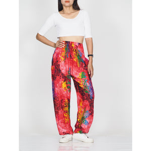 Tie dye 37 women harem pants in Red PP0004 020037 01