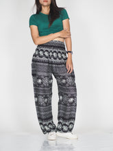 Load image into Gallery viewer, Sunflower elephant 25 women harem pants in Black PP0004 020025 01