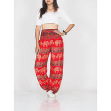 Load image into Gallery viewer, Cartoon elephant 52 women harem pants in Red PP0004 020052 05
