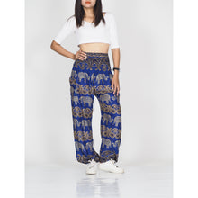 Load image into Gallery viewer, Cartoon elephant 52 women harem pants in Navy PP0004 020052 06