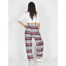 Load image into Gallery viewer, striped elephant 53 women harem pants in Red PP0004 020053 03