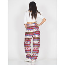 Load image into Gallery viewer, striped elephant 53 women harem pants in Orange PP0004 020053 02