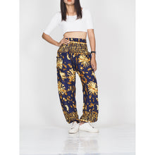 Load image into Gallery viewer, Tie dye 55 women harem pants in Navy PP0004 020055 01
