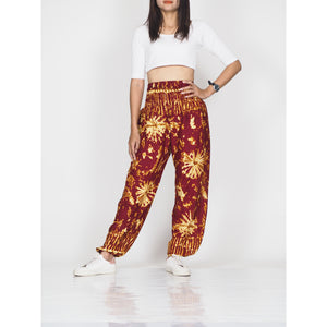 Tie dye 55 women harem pants in Red PP0004 020055 02