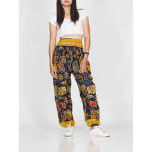 Load image into Gallery viewer, Cartoon elephant 61 women harem pants in Navy PP0004 020061 01