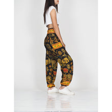 Load image into Gallery viewer, Cartoon elephant 61 women harem pants in Black PP0004 020061 05