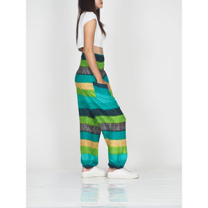 Funny Stripes 63 women harem pants in Green PP0004 020063 02