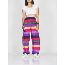 Load image into Gallery viewer, Funny Stripes 63 women harem pants in Purple PP0004 020063 06