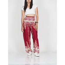 Load image into Gallery viewer, Flower chain 64 women harem pants in Red PP0004 020064 04