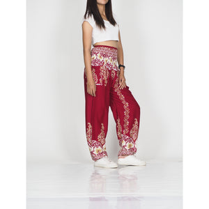 Flower chain 64 women harem pants in Red PP0004 020064 04