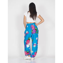 Load image into Gallery viewer, Painted flower 62 women harem pants in Blue PP0004 020062 03
