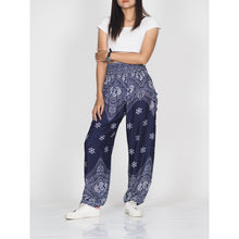 Load image into Gallery viewer, Flower drops 70 women harem pants in Navy PP0004 020070 01