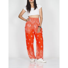 Load image into Gallery viewer, Flower drops 70 women harem pants in Orange PP0004 020070 04