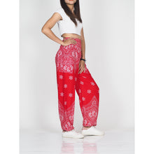 Load image into Gallery viewer, Flower drops 70 women harem pants in Red PP0004 020070 05