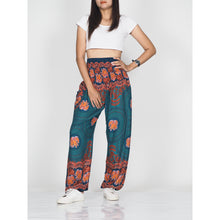 Load image into Gallery viewer, Mandala elephant 71 women harem pants in Green PP0004 020071 06