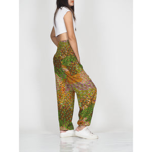 Feather bed 76 women harem pants in green PP0004 020076 06