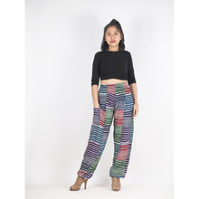Load image into Gallery viewer, Patchwork Unisex Harem Pants in Green PP0004 028000 20