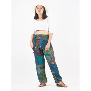 Patchwork Unisex Harem Pants in Green PP0004 028000 20