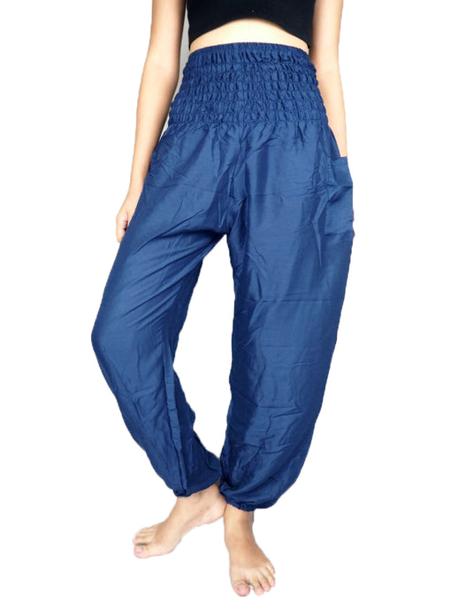 Solid color 0 women harem pants in Navy Blue PP0004 020000 03