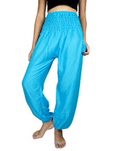 Load image into Gallery viewer, Solid color women harem pants in Light Blue PP0004 020000 08
