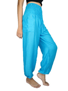 Solid color women harem pants in Light Blue PP0004 020000 08