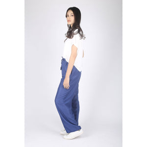 Solid Color Unisex Drawstring Wide Leg Pants in Royal Blue PP0216 020000 02
