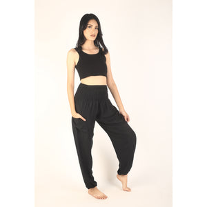 Solid color women harem pants in black PP0004 020000 10