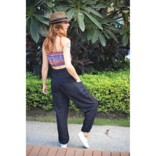 Load image into Gallery viewer, Solid color women harem pants in Black PP0004 020000 10