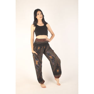 Peacock Eye women harem pants in Black PP0004 020003 01