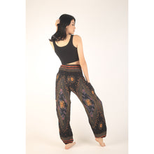 Load image into Gallery viewer, Peacock Eye women harem pants in Black PP0004 020003 01