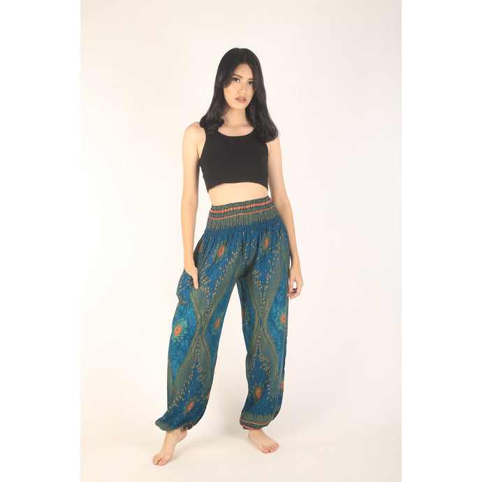 Peacock Eye women harem pants in Ocean Blue PP0004 020003 02
