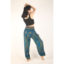 Load image into Gallery viewer, Peacock Eye women harem pants in Ocean Blue PP0004 020003 02